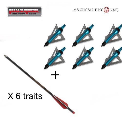 Pack chasse 6 traits carbon et 6 lames1