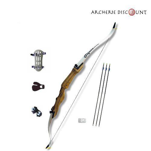 Pack complet arc classique bois pour junior archerie discount