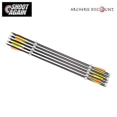 Pack de 10 flèches carbone - Spine 500 - Shoot Again