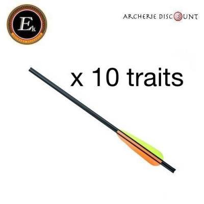 Pack de 10 traits 16 pouces alu  ek archery