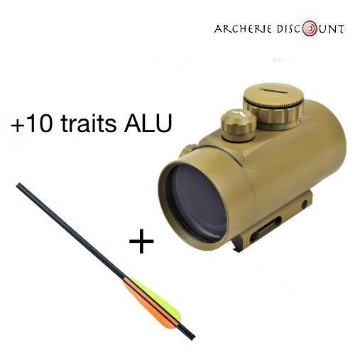 Pack tir red dot 10 traits alu