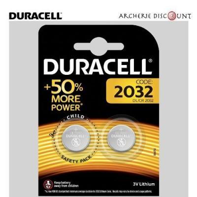 Pack de 2 pilesCR2032 Lithium 3 volts