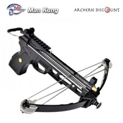 Pistolet arbalète à poulies 80 lbs et sac à dos + traits