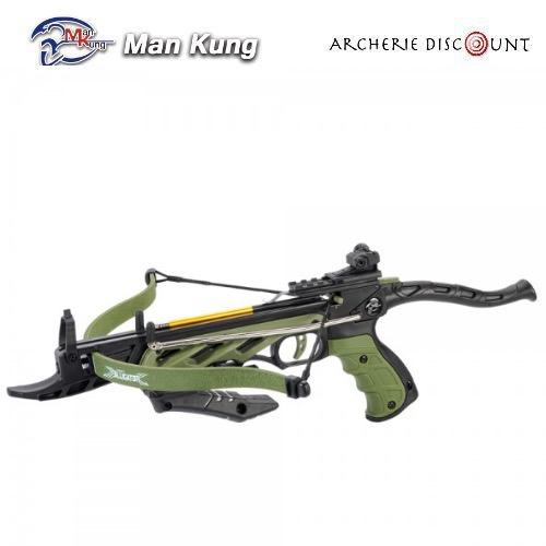 Pistolet arbalete alligator 80 lbs couleur vert