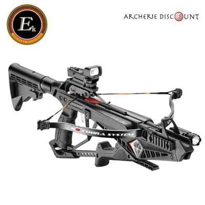 Pack arbalette ek archery COBRA 90 lbs noir deluxe + 10 traits offert