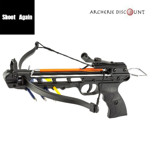 Pistolet arbalette shoot again noire cf115 50 livres