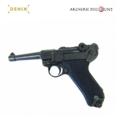 Réplique Denix du pistolet Parabellum LUGER P08 CROSSE NOIR 25.50 CM