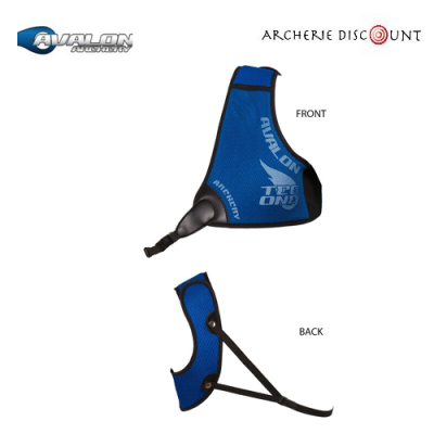 Plastron Avalon Tec One bleu - Gaucher