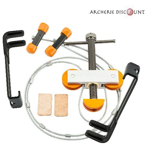 Presse pour arc compound a poulie outil changement corde arc