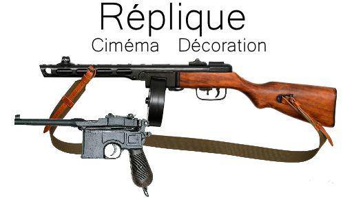 Réplique arme pour cinéma et décoration