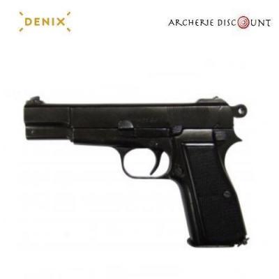 Réplique cinéma du Pistolet Browning GP35 Belgique 1935