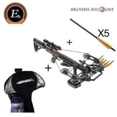 Arbalète Ek Archery Accelerator 410 noir /185 lbs + housse de transport