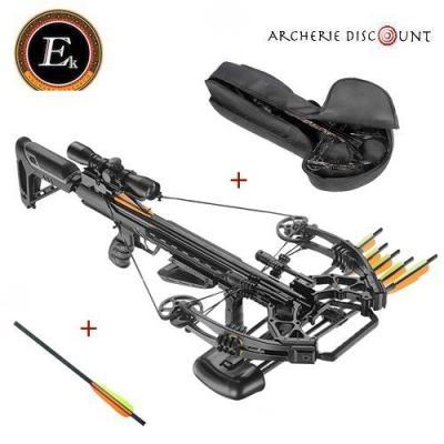 Super pack Arbalète Ek Archery Accelerator 410 noir /185 lbs