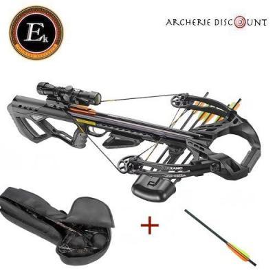 Super pack Arbalète Guillotine X ek archery de 185 lbs avec lunette